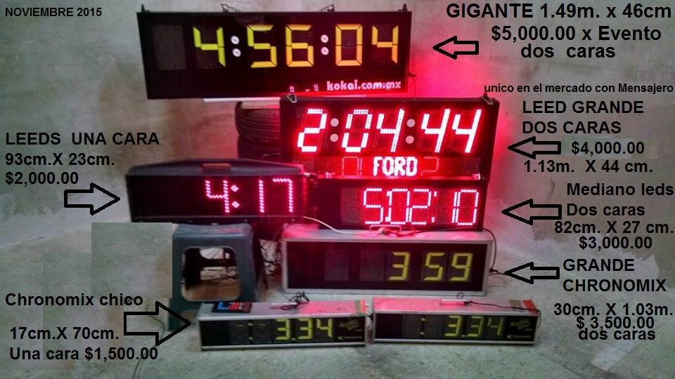 renta de cronometros gigantes
